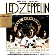 CDs de Música: LED ZEPPELIN. THE VERY BEST OF. EARLY DAYS & LATHER DAYS. SET PACK DOBLE CD.. Lote 221773946