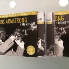 CDs de Música: LOUIS ARMSTRONG & HIS ALL STARS- HISTORIC BARCELONA CONCERTS AR THE WINDSOR PALACE 1955.(2CDS+LIBRET. Lote 221800957