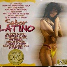 CDs de Música: SABOR LATINO - DOBLE CD. Lote 221807748