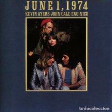 CDs de Música: KEVIN AYERS - JOHN CALE - ENO - NICO - JUNE 1, 1974 CD 1993 VELVET UNDERGROUND SOFT MACHINE. Lote 221864426