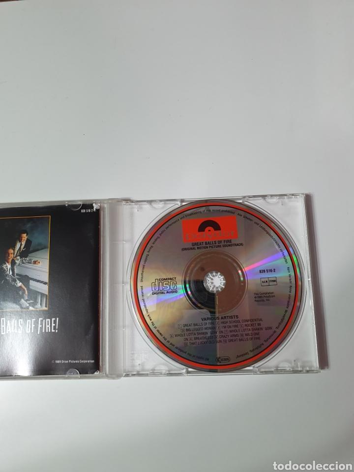 CDs de Música: Cd De great Balls Of Fire, (Gran Bola De Fuego), Banda Sonora Original De La Película. - Foto 3 - 221866560