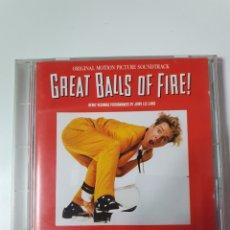 CDs de Música: CD DE GREAT BALLS OF FIRE, (GRAN BOLA DE FUEGO), BANDA SONORA ORIGINAL DE LA PELÍCULA.. Lote 221866560
