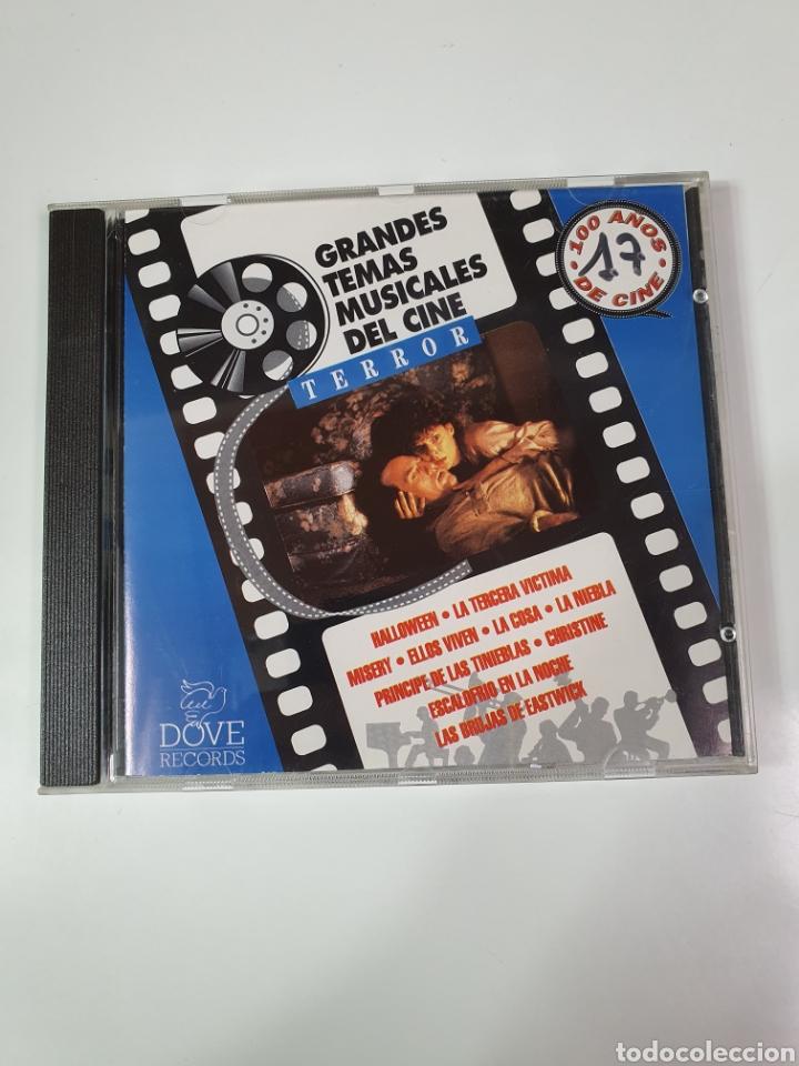 CD DE GRANDES TEMAS MUSICALES DEL CINE, TERROR, 100 AÑOS DE CINE, 17. (Música - CD's Bandas Sonoras)
