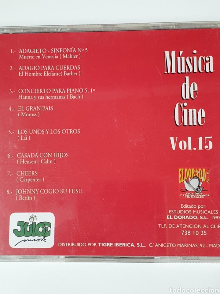 CDs de Música: Cd De Música De Cine Vol. 15. - Foto 2 - 221898371
