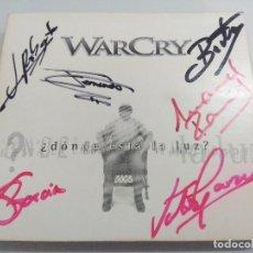CDs de Música: CD + DVD METAL/WARCRY/DONDE ESTA LA LUZ/FIRMADO¡¡¡¡¡¡¡.. Lote 221928303