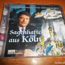 CDs de Música: FRITZ SCHRAMMA LIEST SAGENHAFTES AUS KÖLN FIRMADO CD AUDIO DEL AÑO 2002 COSAS DE COLONIA. Lote 221961512