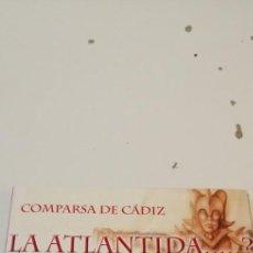 CDs de Música: G-46 CD MUSICA CARNAVAL DE CADIZ COMPARSA DE CÁDIZ. LA ATLANTIDA. Lote 221972368