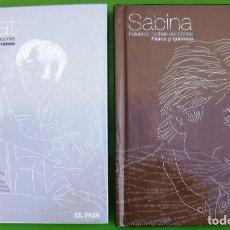 CDs de Música: LOTE SERRAT Y SABINA (MEDITERRÁNEO - FÍSICA Y QUÍMICA) -2 CDS + 2 LIBROS. Lote 221978968