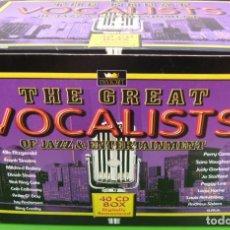 CDs de Música: THE GREAT VOCALISTS OF JAZZ & ENTERTAINMENT(BOX - LOTE DE 40 CDS). Lote 221979451