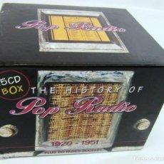 CDs de Música: THE HISTORY OF POP RADIO 1920-1951 (BOX) - LOTE DE 15 CDS + LIBRO EN INGLÉS. Lote 221979912