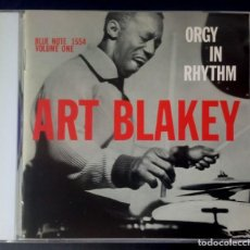 CDs de Música: ART BLAKEY - ORGY IN RHYTHM - CD JAPONES CON INSERTO 1996 - BLUE NOTE. Lote 222050676