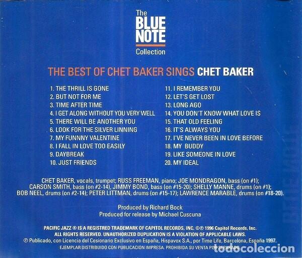 CDs de Música: CHET BAKER. THE BEST OF CHET BAKER SINGS. CD - Foto 2 - 222059186