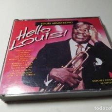 CDs de Música: CD - MUSICA - LOUIS ARMSTRONG – HELLO LOUIS - 2CDS. Lote 222060298