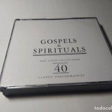 CDs de Música: CD - MUSICA - VARIOUS ?– GOSPELS & SPIRITUALS - 2CDS. Lote 222062116