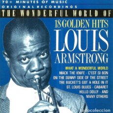 CDs de Música: LOUIS ARMSTRONG. 18 GOLDEN HITS. CD.. Lote 222067820