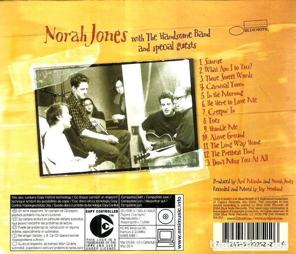 CDs de Música: NORAH JONES. FEELS LIKE HOME. CD - Foto 2 - 222069261