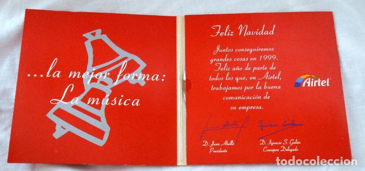 CDs de Música: CD FELIZ NAVIDAD, FRANK SINATRA Y BING CROSBY RECOPILATORIO, AIRTEL EMPRESAS , MEDIASAT 1998 - Foto 2 - 222071508