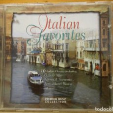 CDs de Música: ITALIAN FAVORITES. COMPACTO CON 16 BELLISIMAS CANCIONES ITALIANAS. PREMIUM MUSIC COLLECTION, 1998. O. Lote 222075202