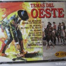CDs de Música: DOBLE CD TEMAS DEL OESTE LOS 7 MAGNIFICOS EL BUENO EL FEO Y EL MALO. Lote 222098732