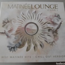 CDs de Música: MATINÉE LOUNGE. VOLUME 2. BEST MATINÉE HITS. CHILL OUT VERSION.. Lote 222119630