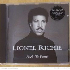 CDs de Música: LIONEL RICHIE (BACK TO FRONT) CD 1992 - COMMODORES, DIANA ROSS. Lote 222131650