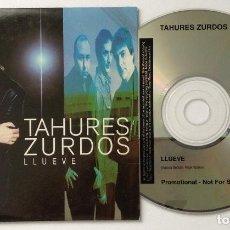 CDs de Música: TAHURES ZURDOS AURORA BELTRÁN CD PROMOCIONAL LLUEVE. Lote 222173908