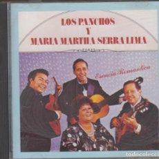 CDs de Música: LOS PANCHOS Y MARÍA MARTHA SERRA LIMA CD ESENCIA ROMÁNTICA 1989 CBS USA. Lote 222180188