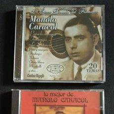 CDs de Música: MANOLO CARACOL - LOTE 2 CD COMO NUEVOS (32 TEMAS EN TOTAL). Lote 222217956