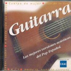 CDs de Música: GUITARRA, LAS MEJORES VERSIONES DEL POP ESPAOL DE LOS 60, VER CONTENIDO EN IMAGEN DEL DORSO. Lote 222246467