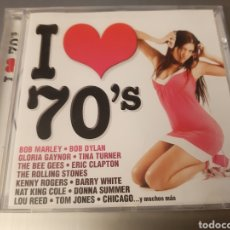 CDs de Música: I LOVE 70'S. MARLEY, DYLAN, B. WHITE, STONES, T. JONES, LOU REED, BEE GEES, CHICAGO, CLAPTON, GAYNOR. Lote 222252601
