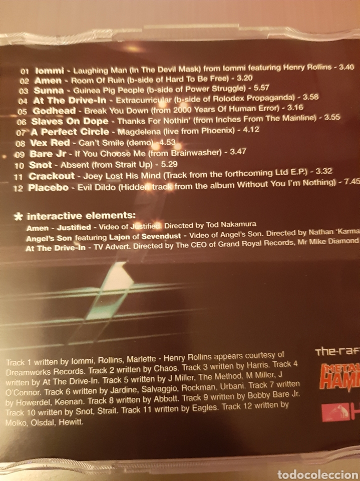 CDs de Música: THE ROCK MACHINE 2001.Metal Hammer. AMEN, PLACEBO, BARE J, SNOT, AT THE DRIVE-IN, CRACKOUT, SUNNA,,, - Foto 2 - 222278463