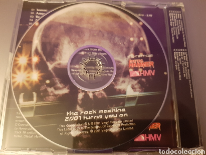 CDs de Música: THE ROCK MACHINE 2001.Metal Hammer. AMEN, PLACEBO, BARE J, SNOT, AT THE DRIVE-IN, CRACKOUT, SUNNA,,, - Foto 3 - 222278463