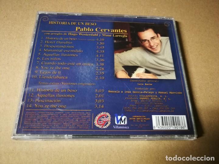 CDs de Música: HISTORIA DE UN BESO BANDA SONORA PABLO CERVANTES CD ALBUM DEL AÑO 2002 14 TEMAS - Foto 2 - 222303476