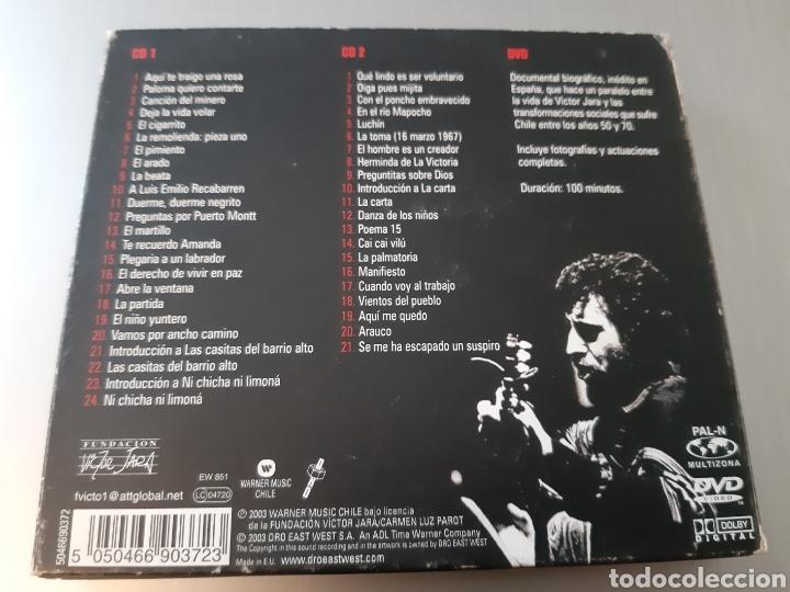 CDs de Música: VICTOR JARA. EL DERECHO DE VIVIR EN PAZ. ANTOLOGIA. 2 CD Y 1 DVD. - Foto 2 - 222314897