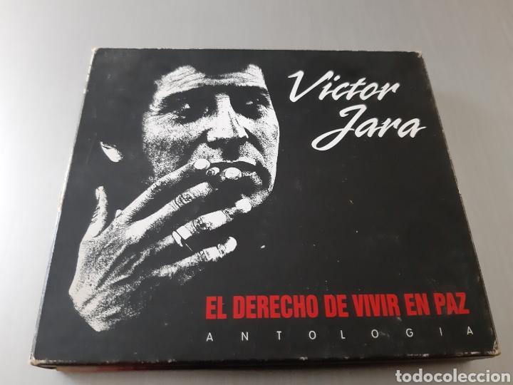 VICTOR JARA. EL DERECHO DE VIVIR EN PAZ. ANTOLOGIA. 2 CD Y 1 DVD. (Música - CD's Country y Folk)
