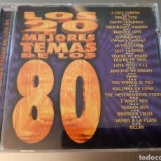 CDs de Música: LOS 20 MEJORES TEMAS DE LOS 80.. Lote 222317430