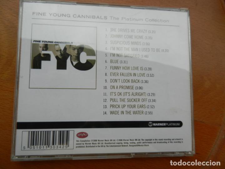 CDs de Música: FINE YOUNG CANNIBALS - THE PLATINUN COLLECTION CD -2006 WARNER MUSIC - Foto 3 - 222363275