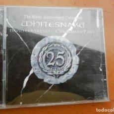 CDs de Música: WHITESNAKE - DAVID COVERDALE - THE SILVER ANNIVERSARY COLLECTION - 2CD -2003 - 36 TEMAS. Lote 222386958