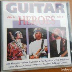 CDs de Música: GUITAR HEROES - 3 CD - HENDRIX , ERIC CLAPTON - SANTANA ETC ..... Lote 222388748