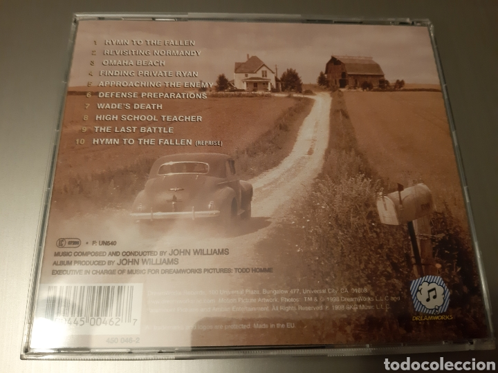 CDs de Música: SAVING PRIVATE RYAN. COMPOSED AND CONDUCTED BY JOHN WILLIANS. ORIGINAL SOUNDTRACK. - Foto 2 - 222400832