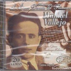CDs de Música: MANUEL VALLEJO - ANTOLOGIA LA EPOCA DORADA DEL FLAMENCO Nº 3 - CD NUEVO Y PRECINTADO. Lote 222428781