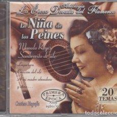 CDs de Música: LA NIÑA DE LOS PEINES - ANTOLOGIA LA EPOCA DORADA DEL FLAMENCO Nº 7 - CD NUEVO Y PRECINTADO. Lote 222429042