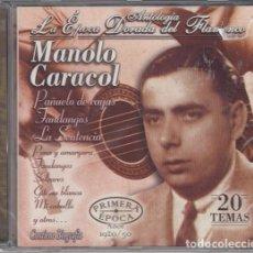 CDs de Música: MANOLO CARACOL - ANTOLOGIA LA EPOCA DORADA DEL FLAMENCO Nº 8 - CD NUEVO Y PRECINTADO. Lote 222429378