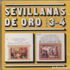 CDs de Música: SEVILLANAS DE ORO VOL 3 Y 4 - CD HISPAVOX ROMEROS DE LA PUEBLA AMIGOS DE GINES MARISMEÑOS ETC. Lote 222434861