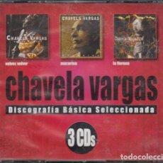 CDs de Música: CHAVELA VARGAS - TRIPLE CD - VOLVER VOLVER + LA LLORONA + MACORINA. Lote 222440752