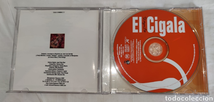 CDs de Música: cd - DIEGUITO EL CIGALA - UNDEBEL - EMI – 7243 4 94808 2 7 - 1998 - Latin, Folk, World, & Country - Foto 3 - 222444982