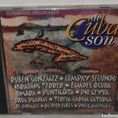 CDs de Música: VERSIONES ORIGINALES DE CUBA SON - EGREM – CD 0397 - LATIN, FOLK, WORLD, & COUNTRY, AFRO-CUBAN, SON. Lote 222486542