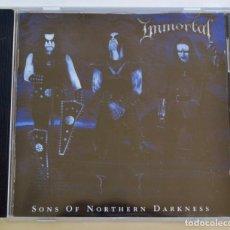 CDs de Música: IMMORTAL. SONS OF NORTHERN DARKNESS. CD + LIBRETO. BANDA NORUEGA DE BLACK METAL. NUCLEAR BLAST, 2002. Lote 222547296