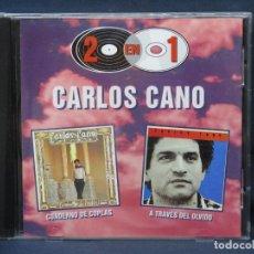 CDs de Música: CARLOS CANO - CUADERNO DE COPLAS / A TRAVES DEL OLVIDO - CD. Lote 222588806