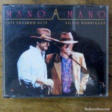 CDs de Música: LUIS EDUARDO AUTE, SILVIO RODRÍGUEZ - MANO A MANO - 1993 - DOBLE EN DIRECTO. Lote 222596737